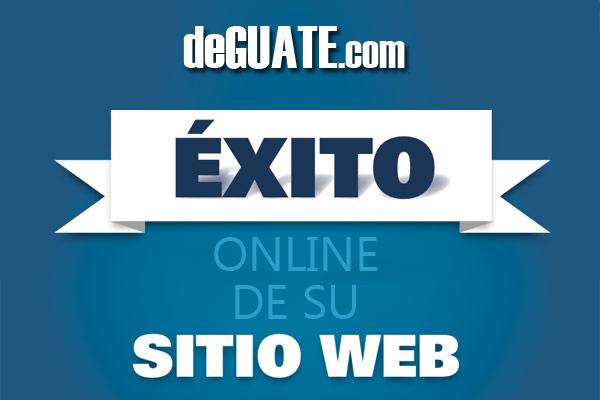 Exito online de sitio web